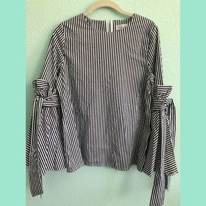 Chicwish Stripes Charisma Top (Navy/White)